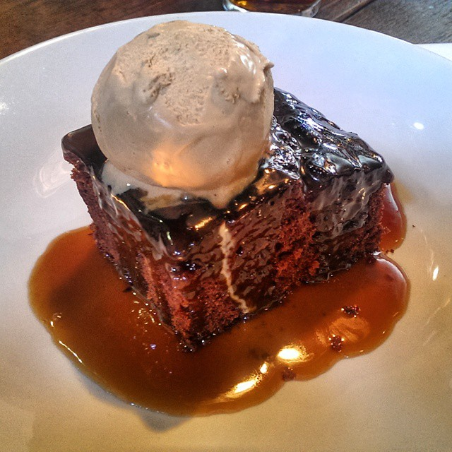 Sticky toffee pudding & salted caramel ice cream...