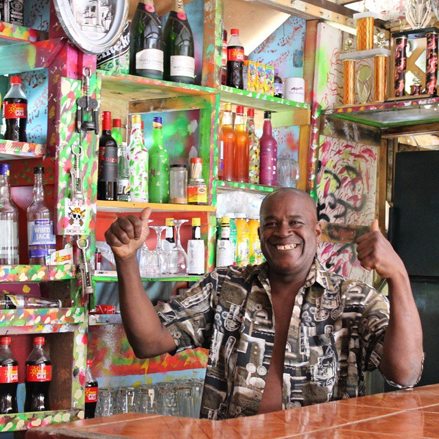 Charlie, owner of Charlie's Bar, coolest bar in all Grenada. #puregrenada