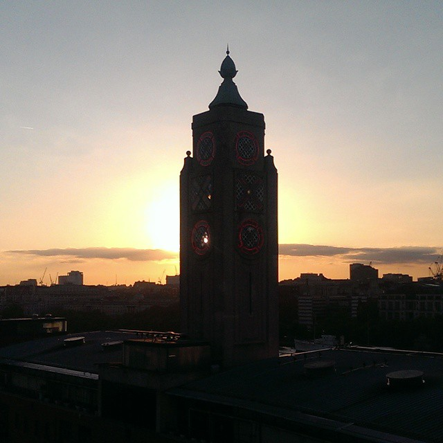 Oxo tower sunset. #london #sunset #tower #evening #view