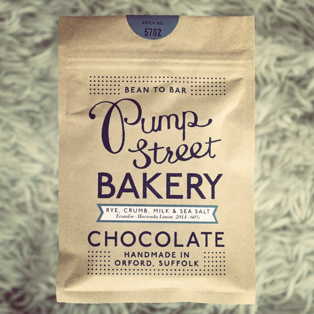 Fantastic Ecuadorian #beantobar milk chocolate with rye bread & sea salt from @pumpstbakery. You can buy it from their popup at 67 Redchurch St, Shoreditch, open until Sunday!