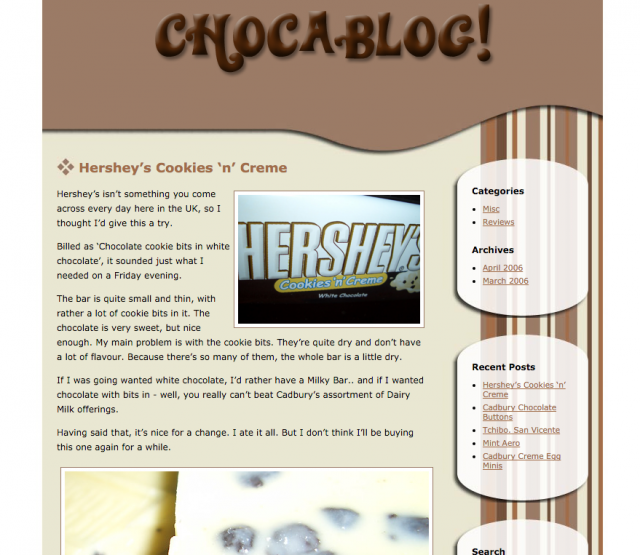Chocablog Screenshot