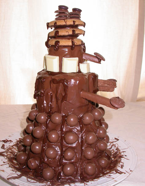 Dalek Chocolate Cake