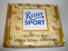 Ritter Sport White Whole Hazelnuts