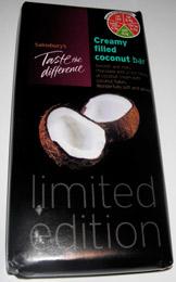 Creamy filled Coconut Bar