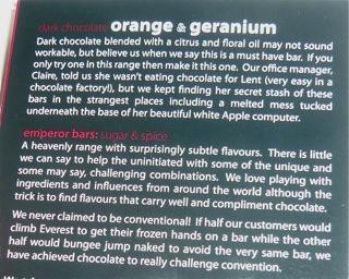 Montezuma's Orange & Geranium Dark Chocolate