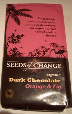 Seeds Of Change Organic Dark Chocolate - Orange & Fig