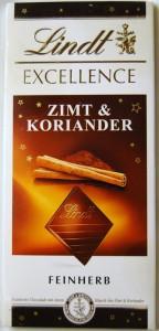 Lindt Excellence Zimt & Koriander