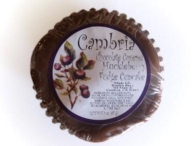 Cambria Chocolate Covered Huckleberry Fudge Cupcake