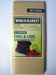 World Market Chili and Lime Dark Chocolate