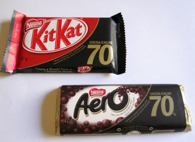 Nestlé KitKat 70% & Aero 70%