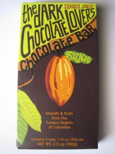 Trader Joe's Dark Chocolate Lover's Bar