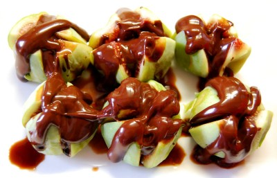 Fresh Figs with Chocolate Sauce