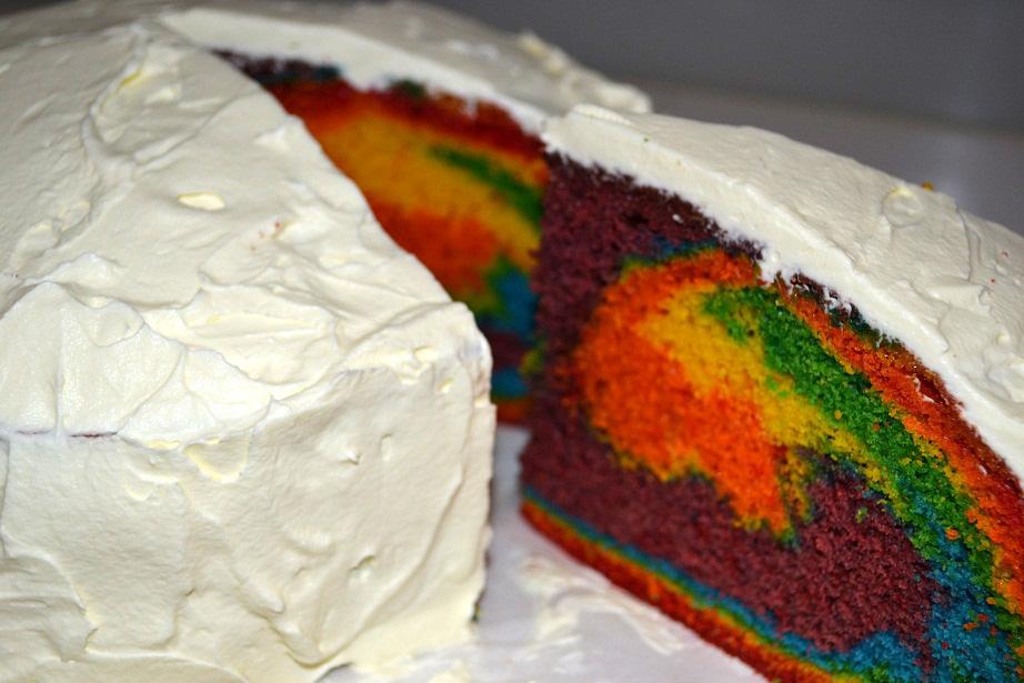 White Chocolate Rainbow Cake Recipe