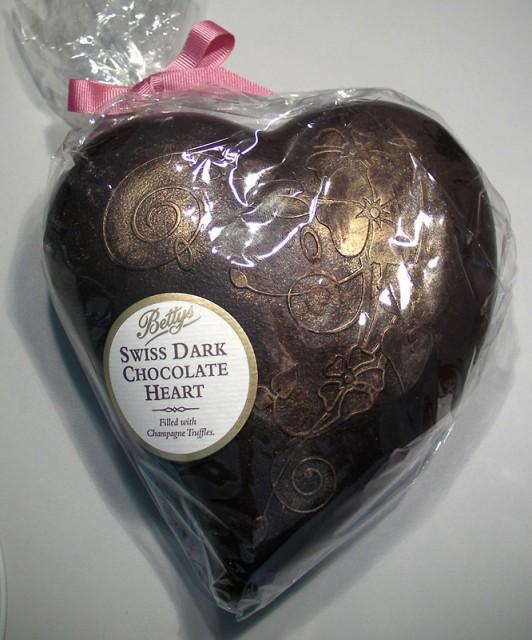 Betty's Swiss Dark Chocolate Heart With Champagne Truffles