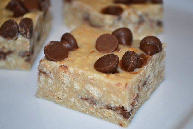 No Bake Chocolate Chip Cookie Bars
