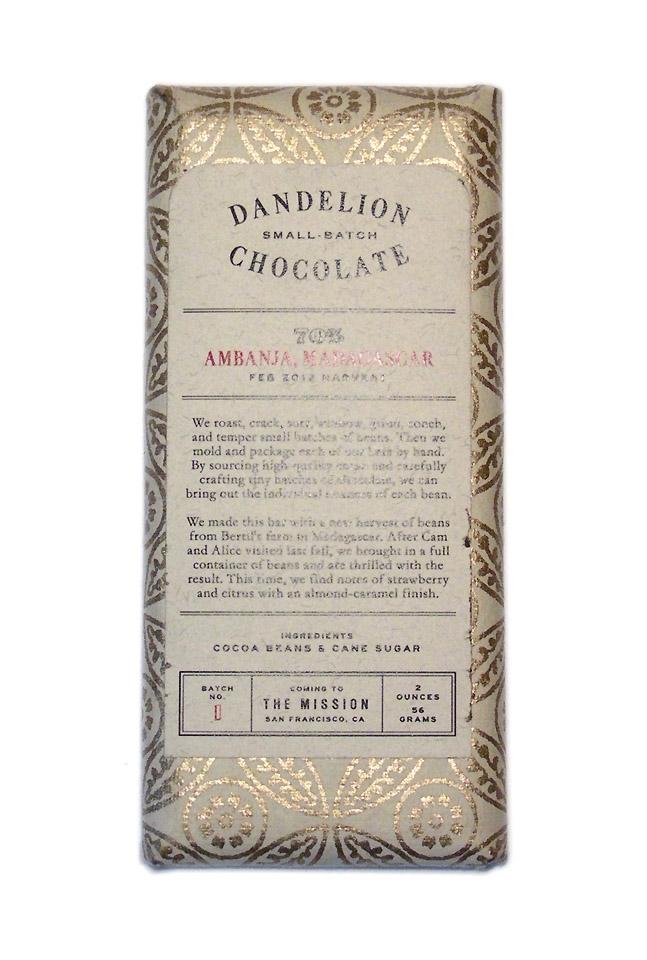 Dandelion Chocolate Ambanja Madagascar